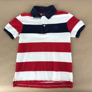 Red white and blue stripe polo shirt size 7